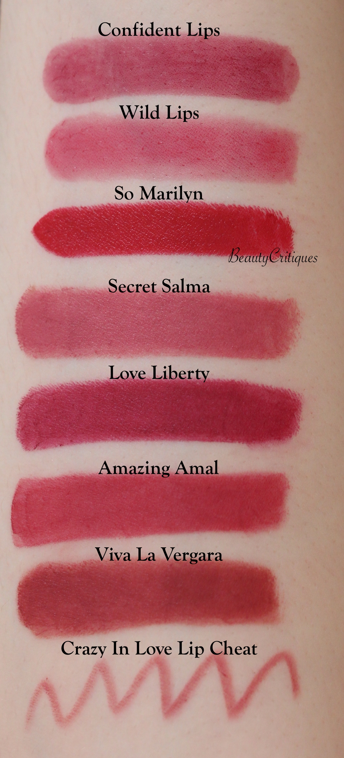 Charlotte Tilbury Lipstick Swatches Berry Red