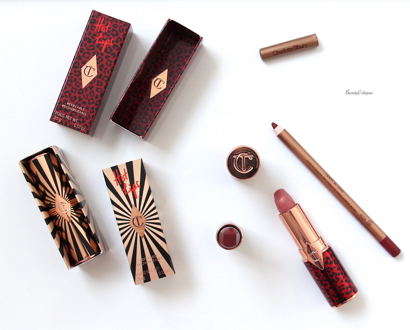 CHARLOTTE TILBURY HOT LIPS 2: LIPSTICK REVIEW AND SWATCHES