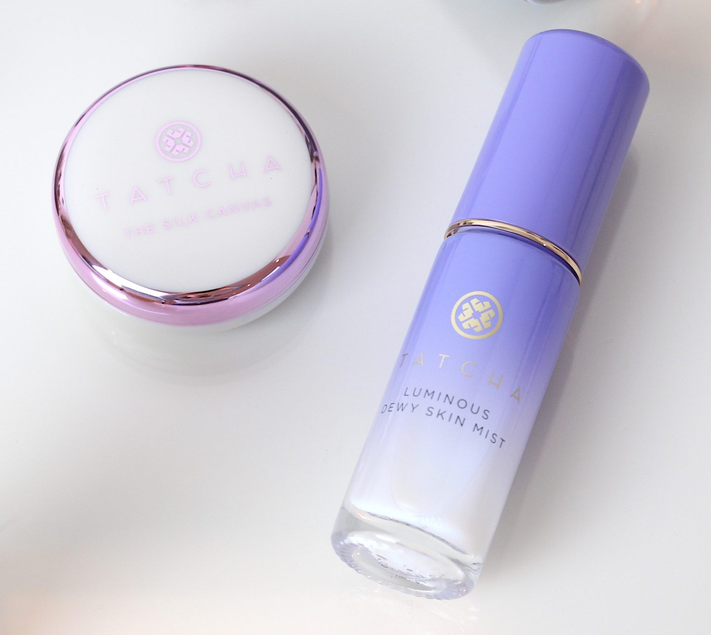 Tatcha The Silk Canvas Primer and Luminous Dewy Skin Mist Minis