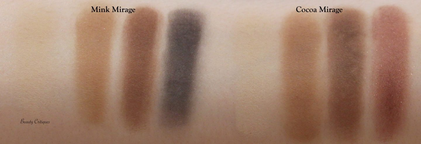Tom Ford Eye Colour Quads Mink Mirage and Cocoa Mirage arm swatches