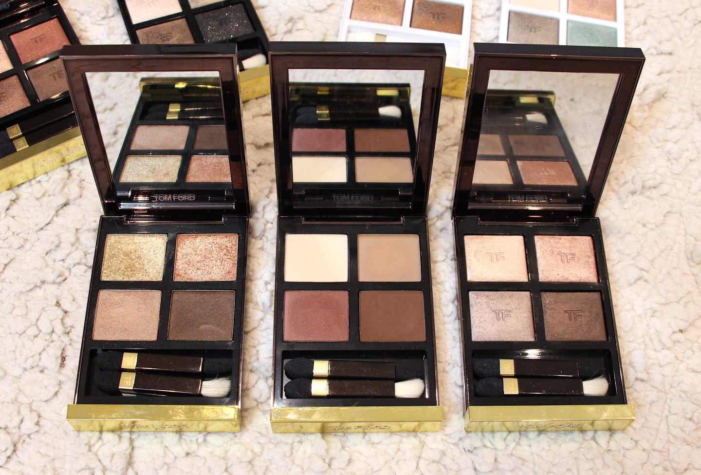 Tom Ford Eye Quads Golden Mink, Cocoa Mirage, Nude Dip