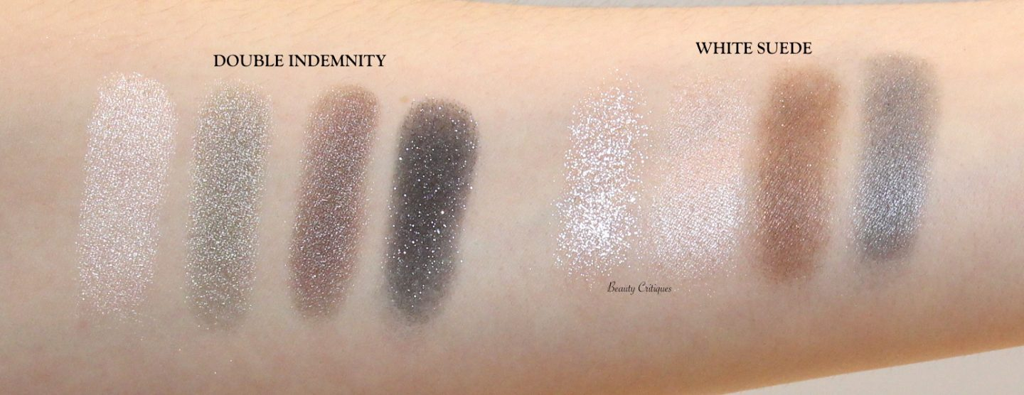 Tom Ford Eye Quads Double Indemnity and White Suede arm swatches