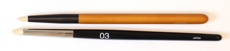 KOYUDO Yoshiki-005 Lip & Eyeliner Brush S vs Rephr 03 Brush