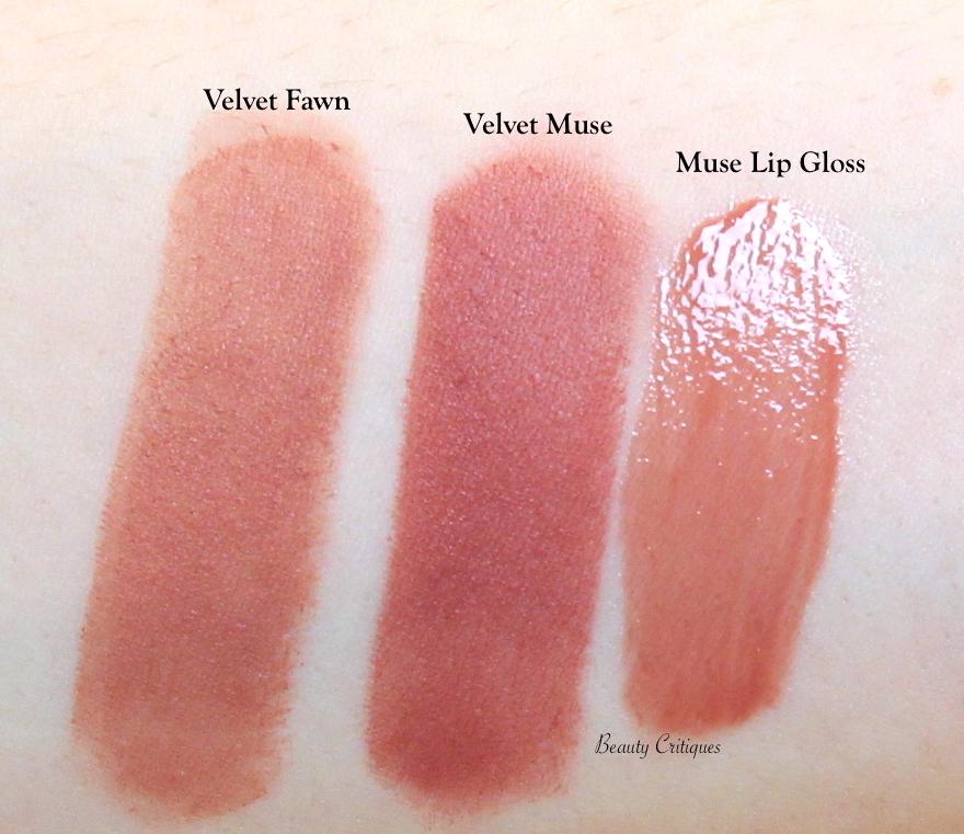 Lisa Eldridge Velvet Fawn Lipstick, Velvet Muse Lipstick, Muse Lip Gloss