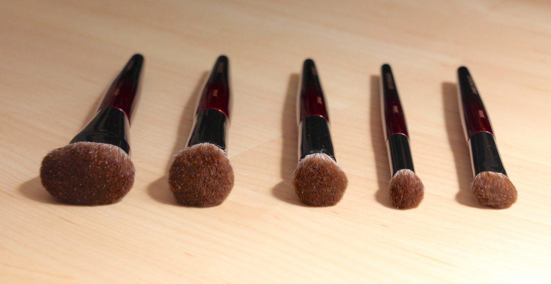 Sonia G Fusion Series Brushes. Jumbo Concealer, Soft Concealer, Mini Base, Classic Base, Jumbo Base