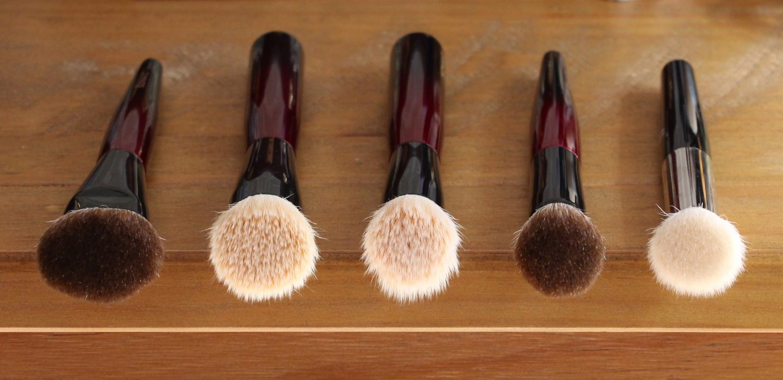 Sonia G Fusion Series foundation base brush comparisons. Jumbo Base, Base One, Classic Base, Rephr 17